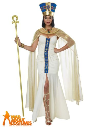 Ladies Cleopatra Costume Queen of Egypt Egyptian Roman Adults Fancy Dress Outfit