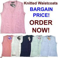 Ladies Womens Knitted Pocket Waistcoat Sleeveless Cardigan