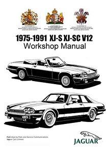 1975 1991 jaguar v12 xj s xj sc 5 3l 5 3l he workshop service rh ebay co uk