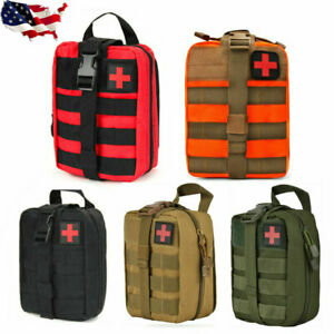 USA Tactical First Aid Kit Survival MOLLE Rip-Away EMT IFAK Medical Pouch Bag