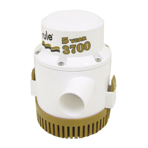 GPH Gold Series Boat Marine Bilge Pump Non Auto 1-1//2 Outlet Rule 3700 G.P.H