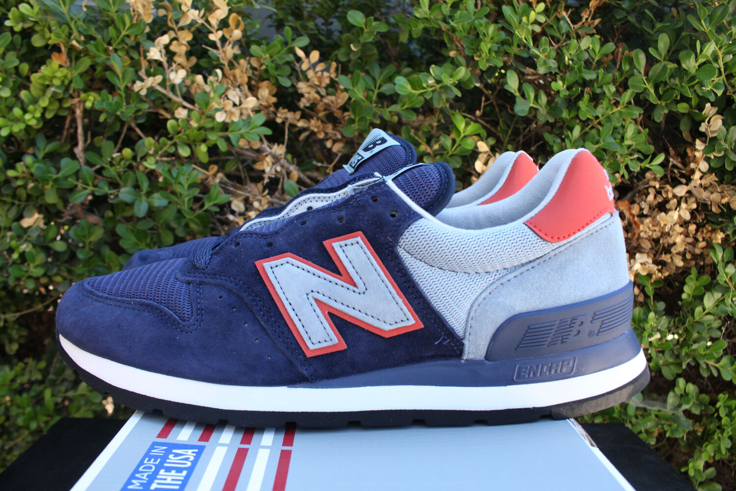 NEW BALANCE 995 MADE IN USA SZ 8 PIG SUEDE NAVY CYCLONE BLUE M995CJA