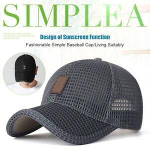 Men-Summer-Mesh-Sport-Baseball-Cap-Sun-Hat-Outdoor-Visor-Sun-Protection-Cap