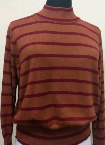 Women/'s 3X Melissa McCarthy Seven7 Turtleneck Brown Sweater  BP31