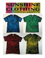 Tie Dye T Shirt spiral design all sizes by sunshine clothing