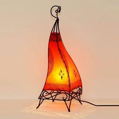 """Bodenlampe Hennalampe Orientalische Stehleuchte Lederlampe /""""Ibis H60 Orange/"""""""