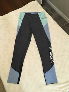 3f3cfd3a554d0 NWT Victoria s Secret Pink ULTIMATE HIGH WAIST COLORBLOCK LEGGING L ...