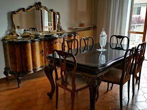 Tavoli Da Pranzo In Stile.Tavolo Sala Da Pranzo Stile Chippendale Anni 50 In Legno Massiccio