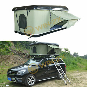 Details about Pop Up Fiberglass Hard Shell Overlander Camping  Car/Truck/Suv/Van Roof Top Tent