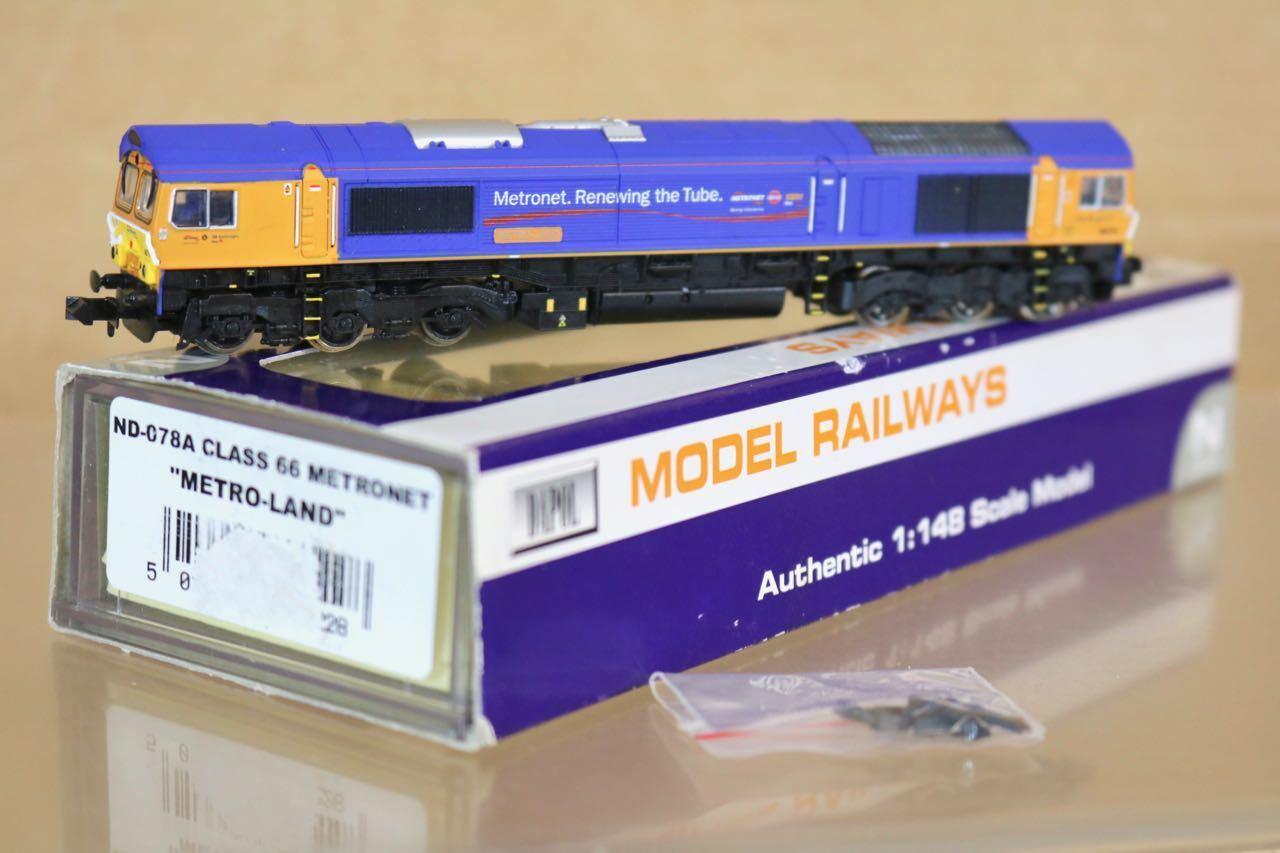 Graham Farish Nd-078a DCC Listo Metro-Land Metronet Clase 66 Diesel Loco 66719N