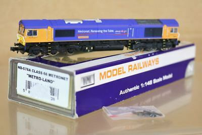 Graham Farish Nd-078a Dcc Ready Metro-land Metronet Class 66 Diesel Loco 66719 N Sconto Online