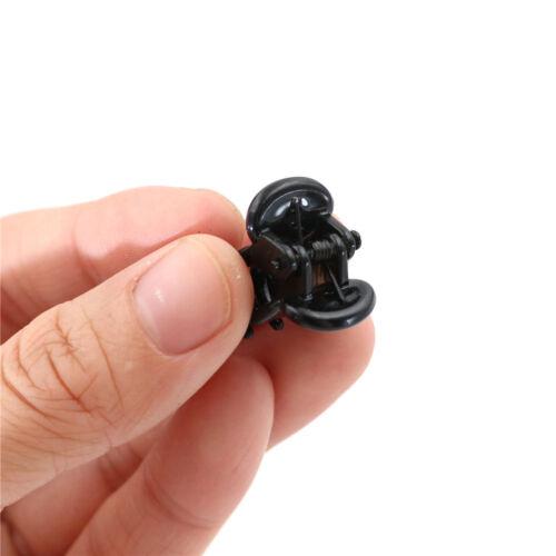 12st kleine Kunststoff schwarz Haarspangen Claws Clamps*FBB
