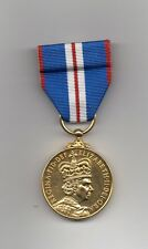 QUEEN'S GOLDEN JUBILEE MEDAL 2002- FULL-SIZE REPLICA ON  ORIGINAL MOUNTING BAR