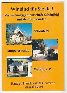 U306-BROSCHURE-SACHSEN-SCHONFELD-WEIssIG-LAMPERSWALDE-30-SEITEN-WERBUNG