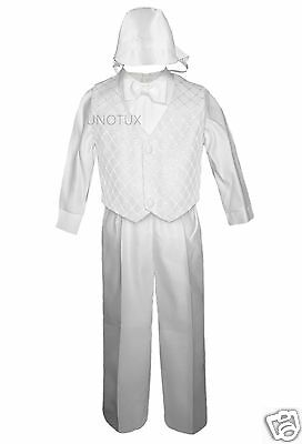 Baby Boy Toddler Baptism Church Synagogue Formal Cross Vest Set Suit W/ Hat S-4t Available In Various Designs And Specifications For Your Selection