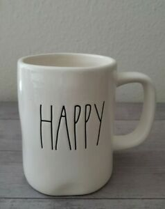BRAND NEW RAE DUNN by Magenta HAPPY Coffee Tea Mug Spring Farmhouse Home Decor
