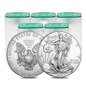 Lot-of-100-2019-1-oz-Silver-American-Eagle-1-Coin-BU-5-Roll-Tube-of-20