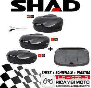 Yamaha-FZ6-2004-2005-2006-Bauletto-Shad-SH58X-Erweiterbar-Zurueck-Platte