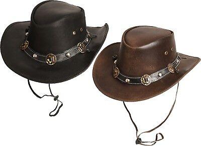 Westernhut Country Hut Leder Cowboyhut »concho« Scippis Earth Braun Tan Schwarz Exquisite (In) Verarbeitung