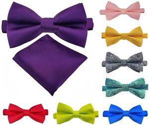 Fliege-Einstecktuch-Schleife-Smokingfliegen-Binder-de-Luxe-Krawatten