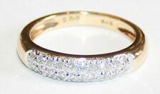 Stunning 9ct Gold Quarter Carat Pave Set Diamond Ring 0.25cts Size M