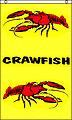 NEW 5ft x 3ft Crawfish (Vertical) Flag BANNER FREE UK POSTAGE