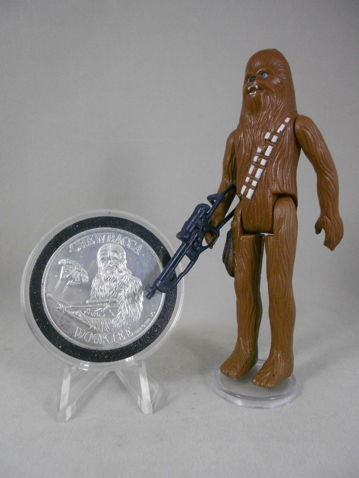 Vintage Star Wars 1977 Chewbacca E N Mint  Vintage Complete   w POTF Coin