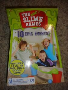 Details about NEW The Slime Games 10 Epic Events Hoops, tug-o-war, pong, &  MORE