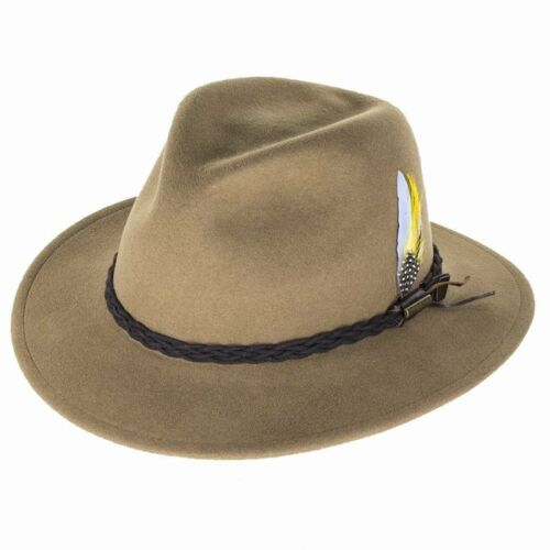 Beige Stetson Hats Newark Vita-Felt Fedora Hat