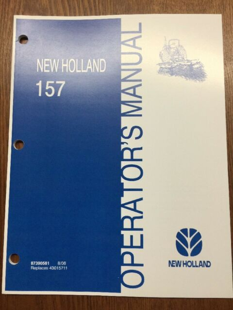 New Holland Ford 157 Tedder Operators Operation Manual