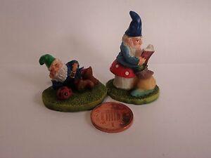 1:12 escala Wibbly Wobbly Gnomos Casa De Muñecas Miniaturas adornos de jardín.