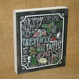 Chalk-Art-Christmas-Word-Collage-Wall-Table-Home-Decor-Primitives-by-Kathy