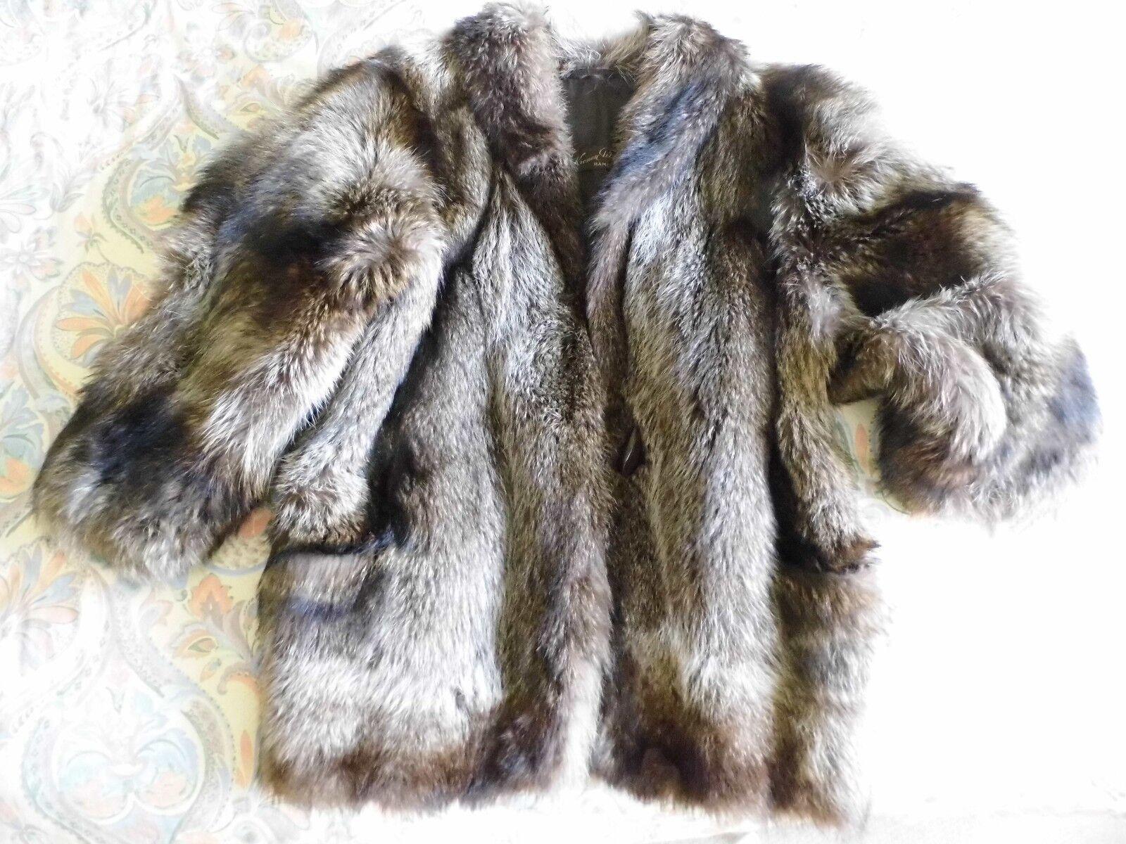 Waschbär Jacke Pelzjacke Racoon Fur 44 - 46 NEUWERTIG Like NEW
