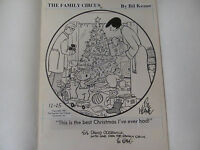 BIL KEANE original daily cartoon signed 1981 art 1986 calendar THE FAMILY CIRCUS