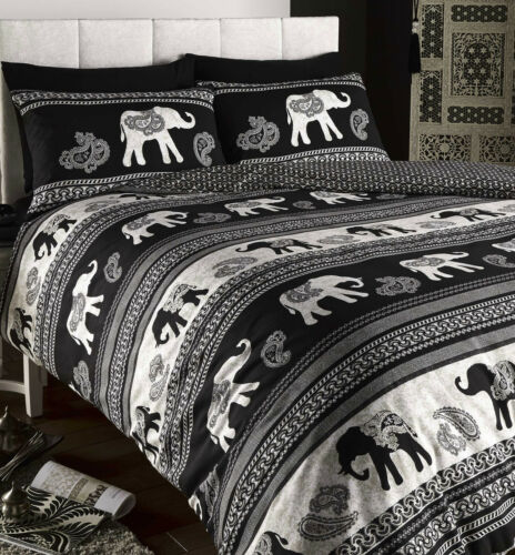 Duvet set Empire black choice of sizes single double king size