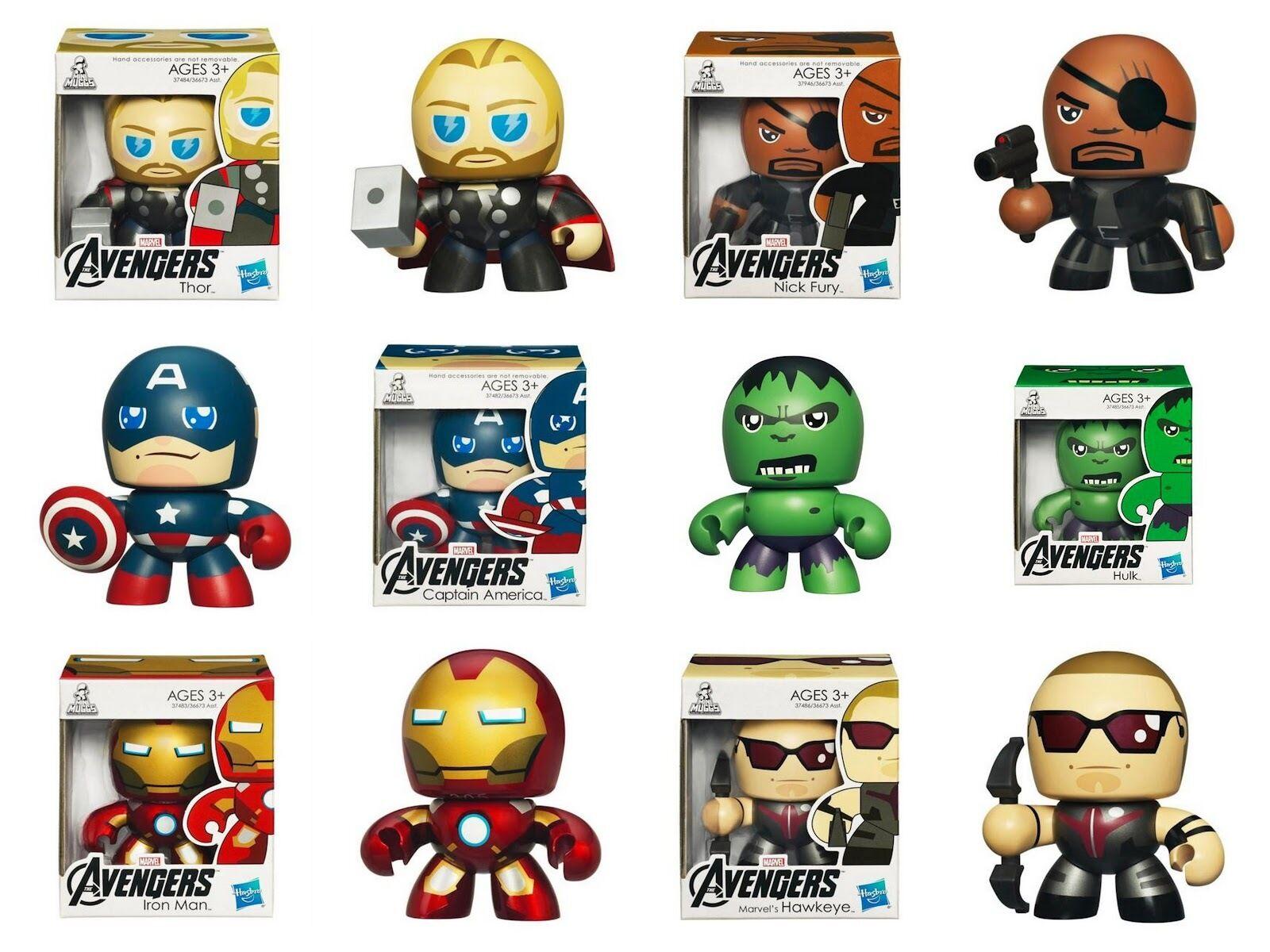 Marvel Avengers Film Assemble Mini Mighty Tasses Figurines D'Action Jouet