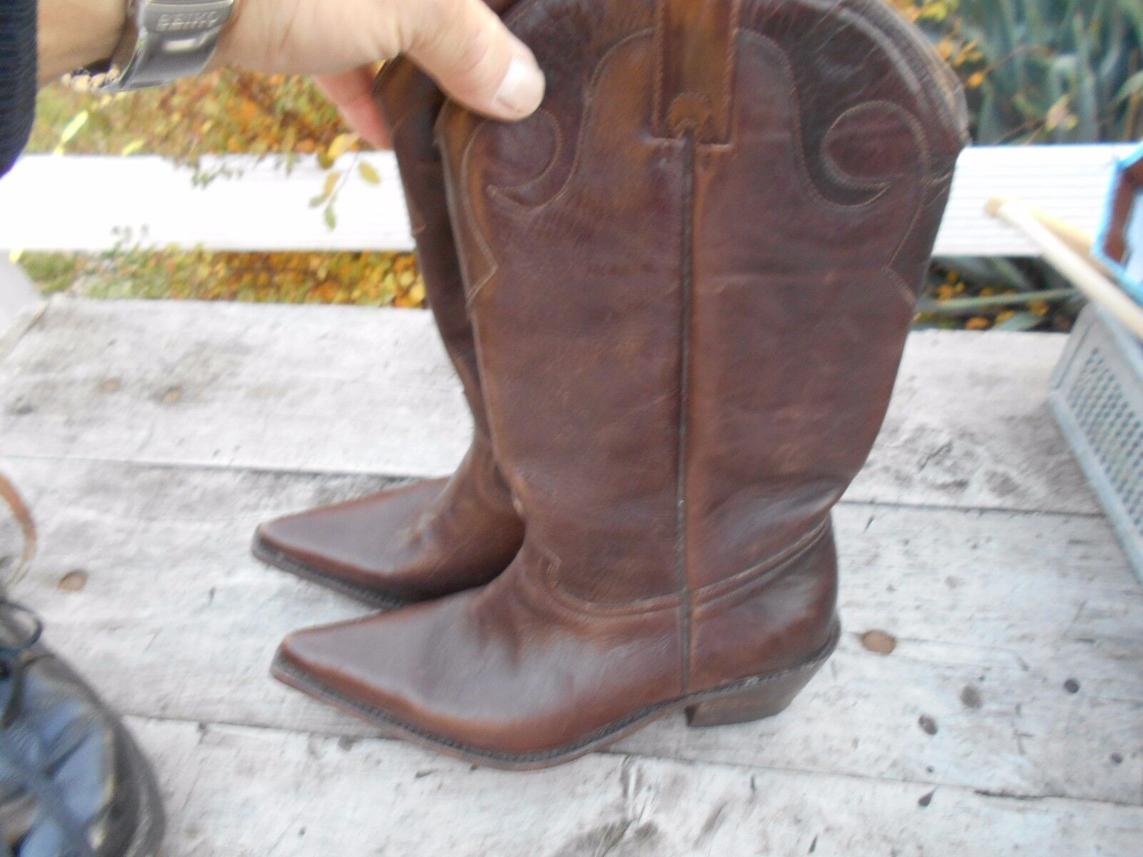 BOTTES BUFFALO TYPE SANTIAGS brown T 40 TBE A  ACH IMM FP RED MOND RELAY