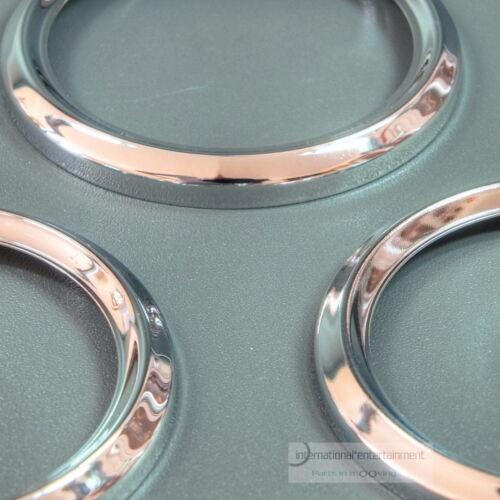 BEZEL CHROMRINGE 52mm  3 Stck Metall  ORIGINAL VDO FRONTRINGE