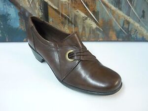 fe6c757d6bce2 Image is loading CLARKS-Brown-Leather-Bendable-Slip-On-Mules-Shoes-