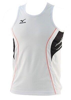 Mens Mizuno Singlet Team Running 52HM001-70 Top White//Black Brand New