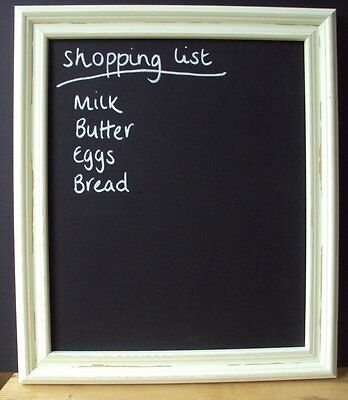 Blackboard Chalkboard Shabby Chic Cream Wood, Pine or White Frame in Many Sizes