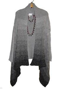 5847ef04c815  109 Coldwater creek Women s Winter Fall cardigan Cape sweater ...