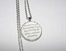 Personalizado Collar Colgante citar Cinderella, Disney, Amor, Sueños De Regalo