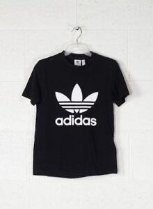 Adidas Originals Trefoil Maglietta T-shirt Donna Nero Cv9888-black 44