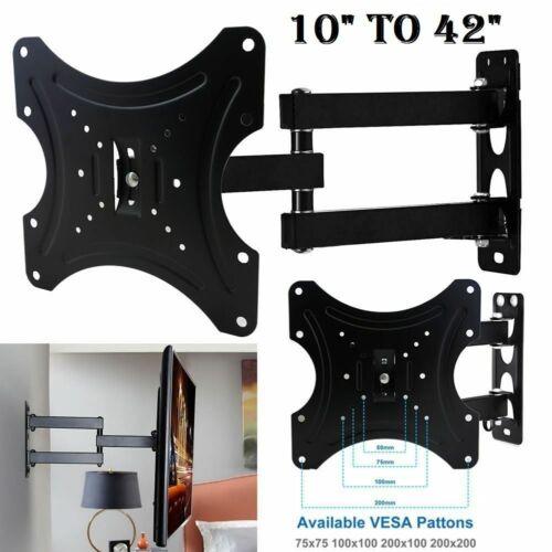 TILT /& SWIVEL TV WALL BRACKET MOUNT LCD LED Plasma 10 15 20 25 30 32 40 42 INCH