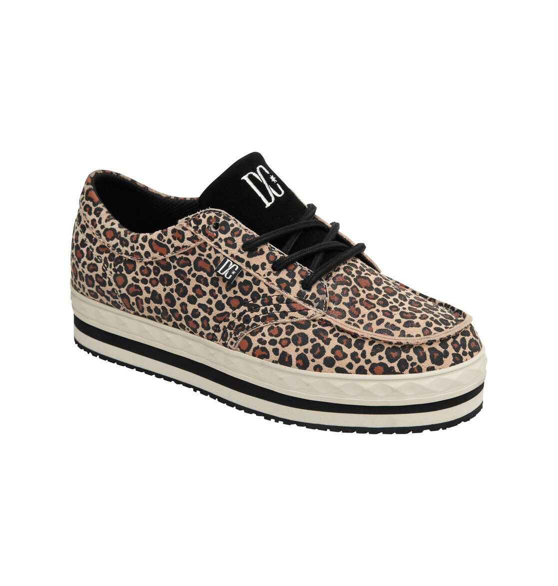DC - CREEPER Womens shoes (NEW) Sizes 6-8 LEOPARD PRINT PRINT PRINT SNEAKERS   Free Shipping eae202