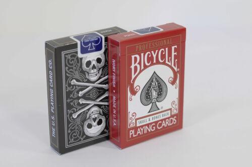 SKULL /& BONES BACK PROFESSIONAL BICYCLE DECK PLAYING CARDS POKER MAGIC TRICKS
