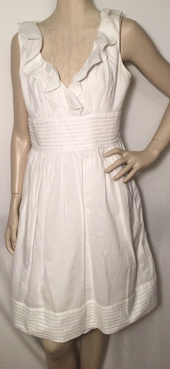 Ralph Lauren White Cotton SZ 12 Sleeveless Dress