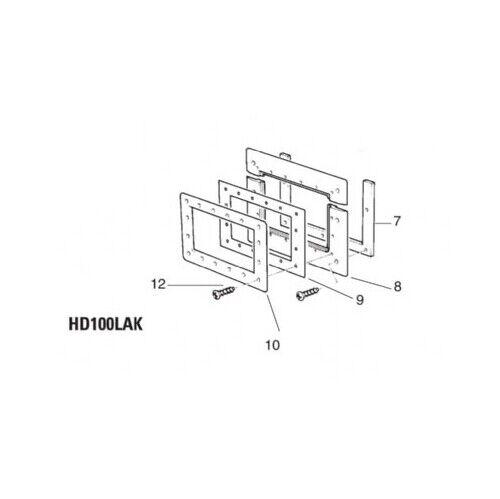 Certikin Parallel Extension Throat Spare Parts HD100LAK /& HD102LN