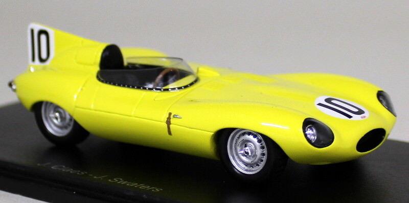 bienvenido a orden Spark Spark Spark 1 43 escala S4388 Jaguar D-Tipo 3RD Le Mans 1955 Swaters Coche Modelo de Resina  hermoso